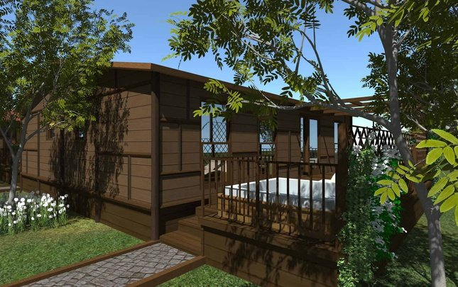 Chalet 'new sherwood' 3 chambres jacuzi parc de vacances magic robin hood alfas del pi