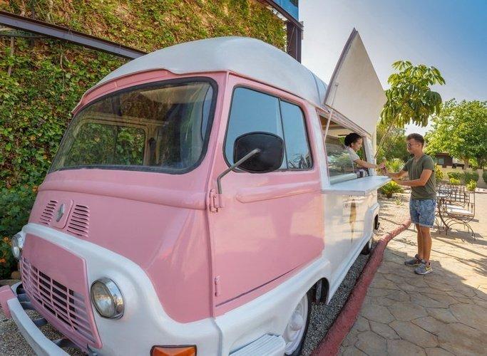 Camion de crème glacée Parc de Vacances Magic Robin Hood Alfas del Pi
